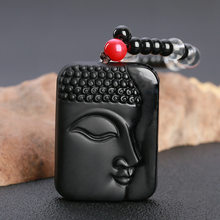 Free shipping Free shipping Free shipping drop shipping Obsidian stone Buddha had strange red sweater chain bead chain model(China)