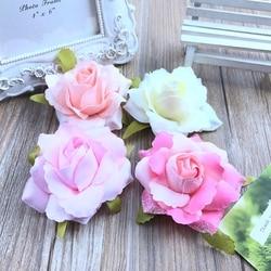 1pcsFree envio Simulacion rose corsage horquilla DIY zapatos de la flor flores artificiales decoracion de flores de seda