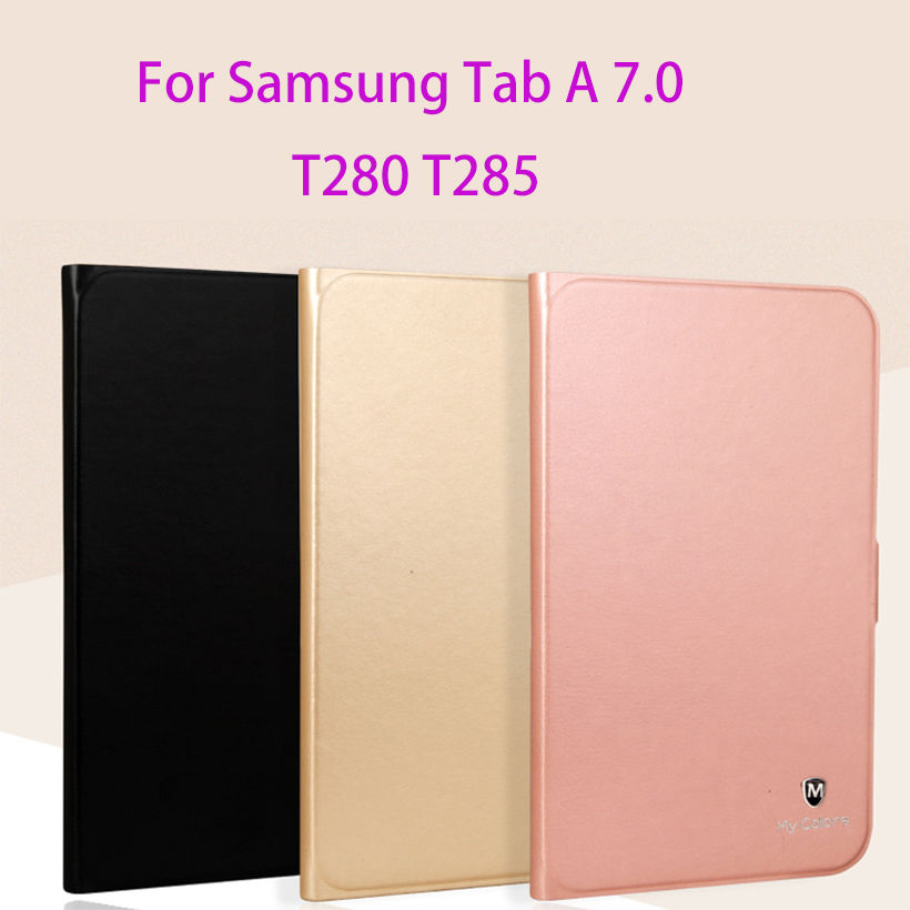 Luxury PU Leather Case For Samsung Galaxy Tab A A6 7.0 inch 2016 T285 SM-T280 T280 Case Cover Tablet Funda Silicon Shell Capa luxury flip stand case for samsung galaxy tab 3 10 1 p5200 p5210 p5220 tablet 10 1 inch pu leather protective cover for tab3