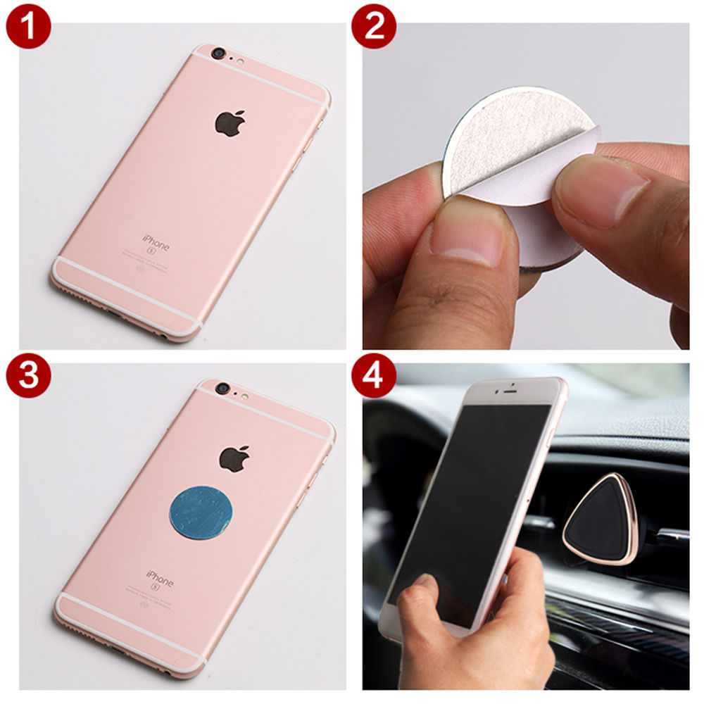 Universal Phone Holder Air Vent Stand Magnetic Car GPS Holder 360 Rotation Mount Cradle For iPhone Samsung HTC Huawei Xiaomi