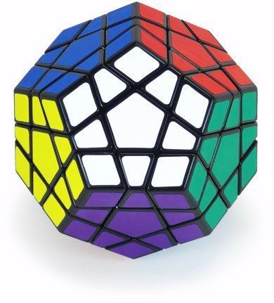 Shengshou Megaminx cubo mágico Puzzle Toy negro