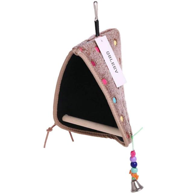 parrot Winter Plush Hut Tent Nest Stand Parrot Bed Sleep Parakeet Cage Cave Hanging Decor  Birdhouse for Small  Cockatoo Finch 1