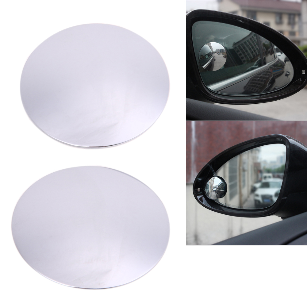 2Pcs 360 Degree Frameless Car Rear Mirror Wide Angle Round Convex Blind Spot Mirror for Parking Auto Accessories