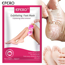 efero 1pair Baby Foot Peeling Mask Rose Essence Foot Treatment Exfoliating Foot Mask Remove Dead Skin Feet Care Pedicure Socks цена