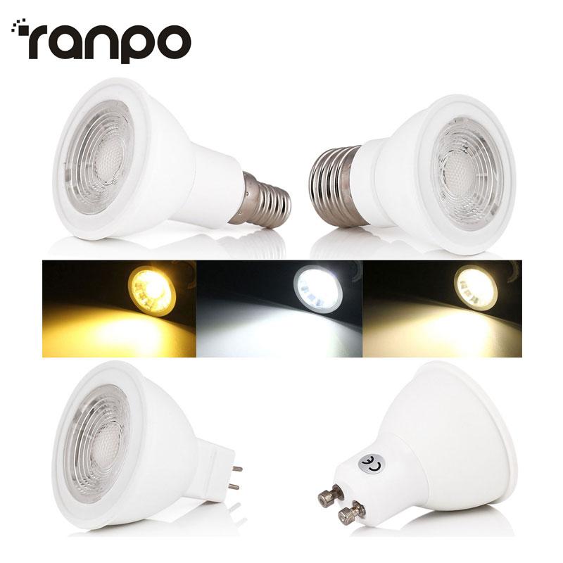 High Quality MR16 E27 GU10 E14 COB LED Lamps AC110V 220V 9W 12W LED Bulb Spotlight Light Home Decor Chandeliers Lighting Warm