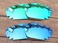 Изумрудно-Зеленый и Синий 2 Пары Зеркало Поляризованных Сменные Линзы Для Jawbone Вентилируемый Солнцезащитные Очки Кадров 100% UVA и UVB Защиты