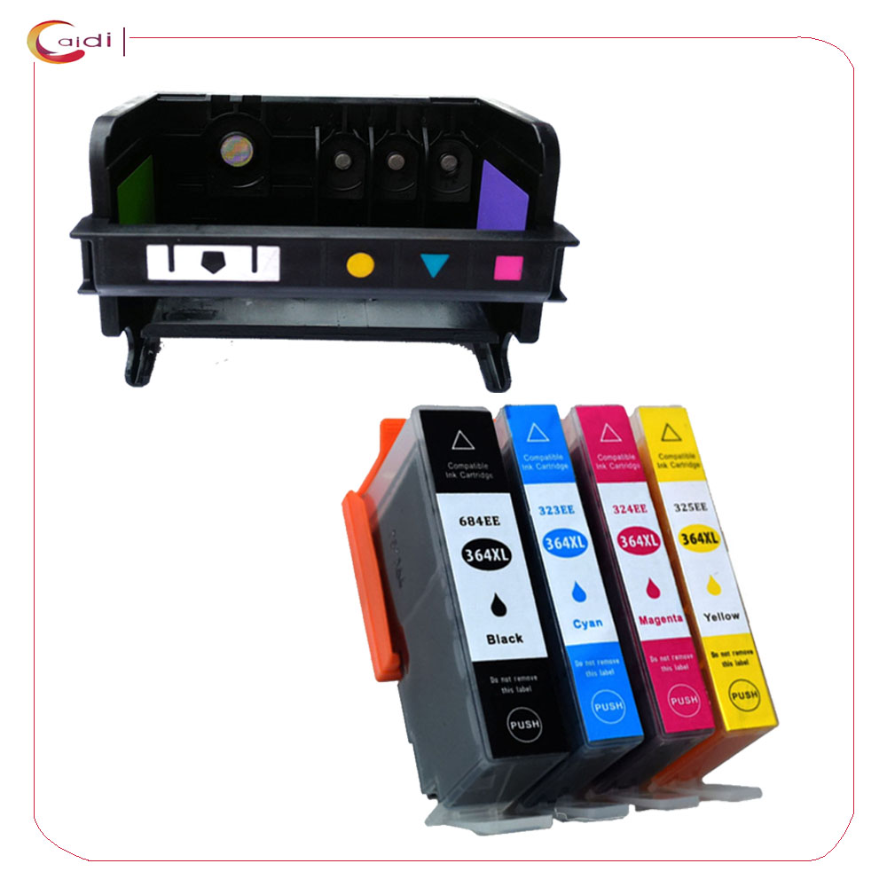 4 Slot régénération hp 364 tête d'impression + 4 Pack cartouche d'encre pour hp Photosmart B110a B110c B110e B209a B210a B210c B210b imprimante