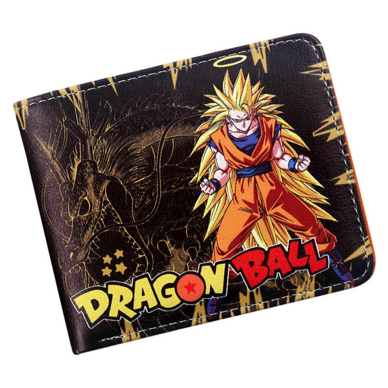 Dragon Ball Z Super Saiyan Goku Bifold Wallet With Card Holder Anime Manga Purse