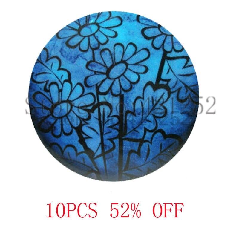 Кобальт Синий Вектор цветы Jewely Книги по искусству узор ожерелье брелок закладки Запонки Серьги