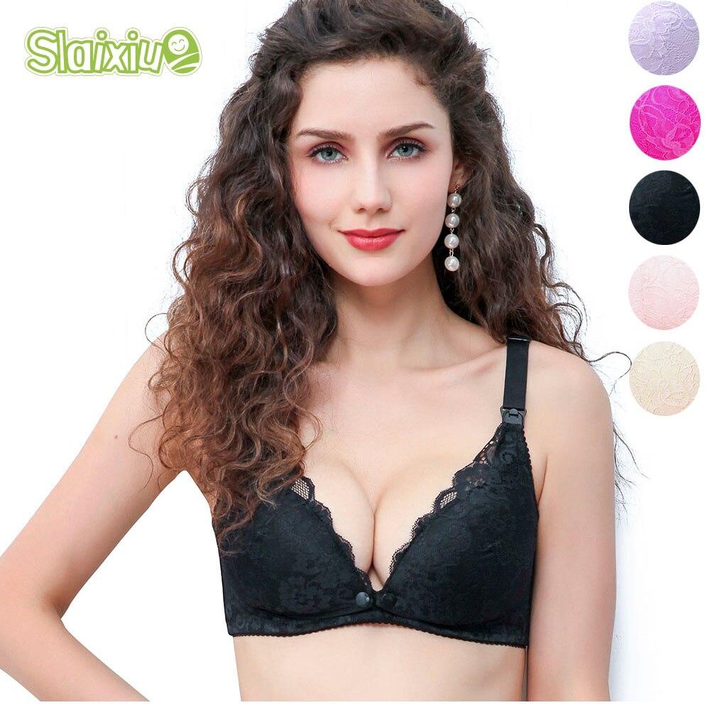 Breathable Cotton Maternity Nursing Bra Pregnancy Breast Feeding Underwear Bralette Adjusted Bra Summer Underwear For Women