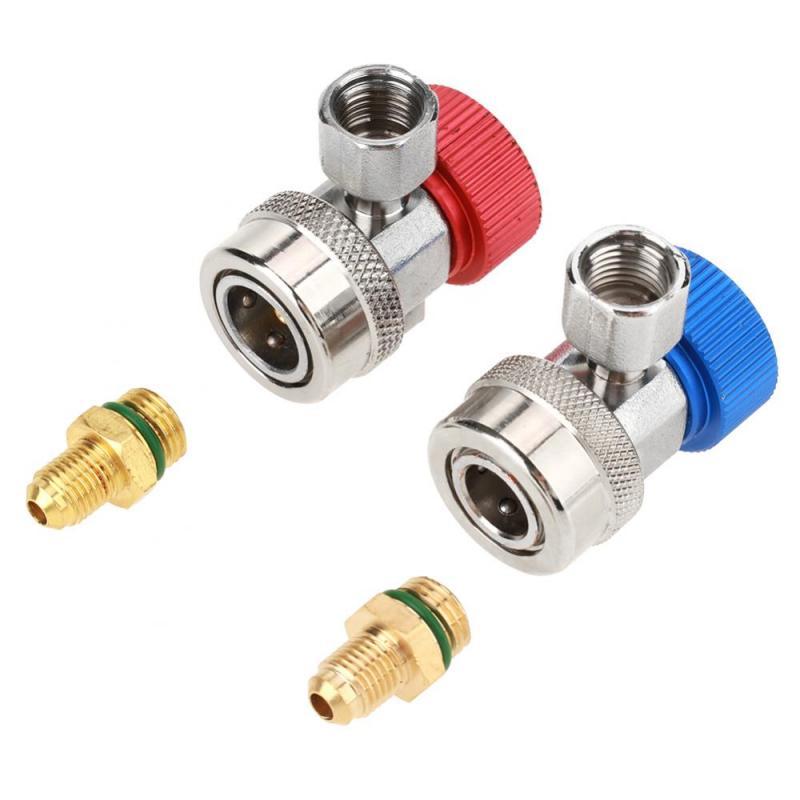 Rohre & Armaturen 2 Stücke R134 A/c Niedrigen/hoch Schnelle Stecker Klimaanlage Koppler Adapter Mit Caps Rohrverbindungsstücke