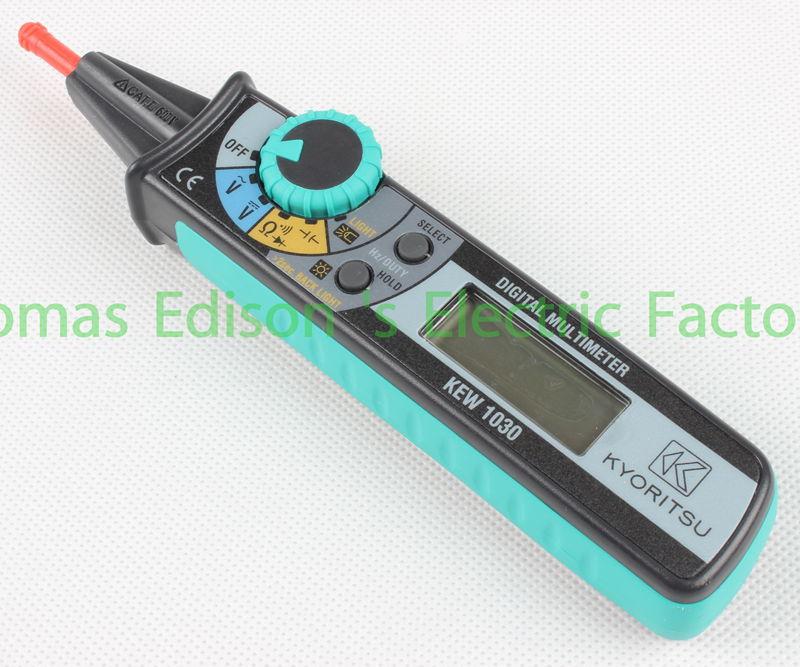 KYORITSU 1030 Compact Pen Digital Multimeter DMM Digital Multi Meter meter dt830b handheld digital multimeter electrician with a to send meter pen