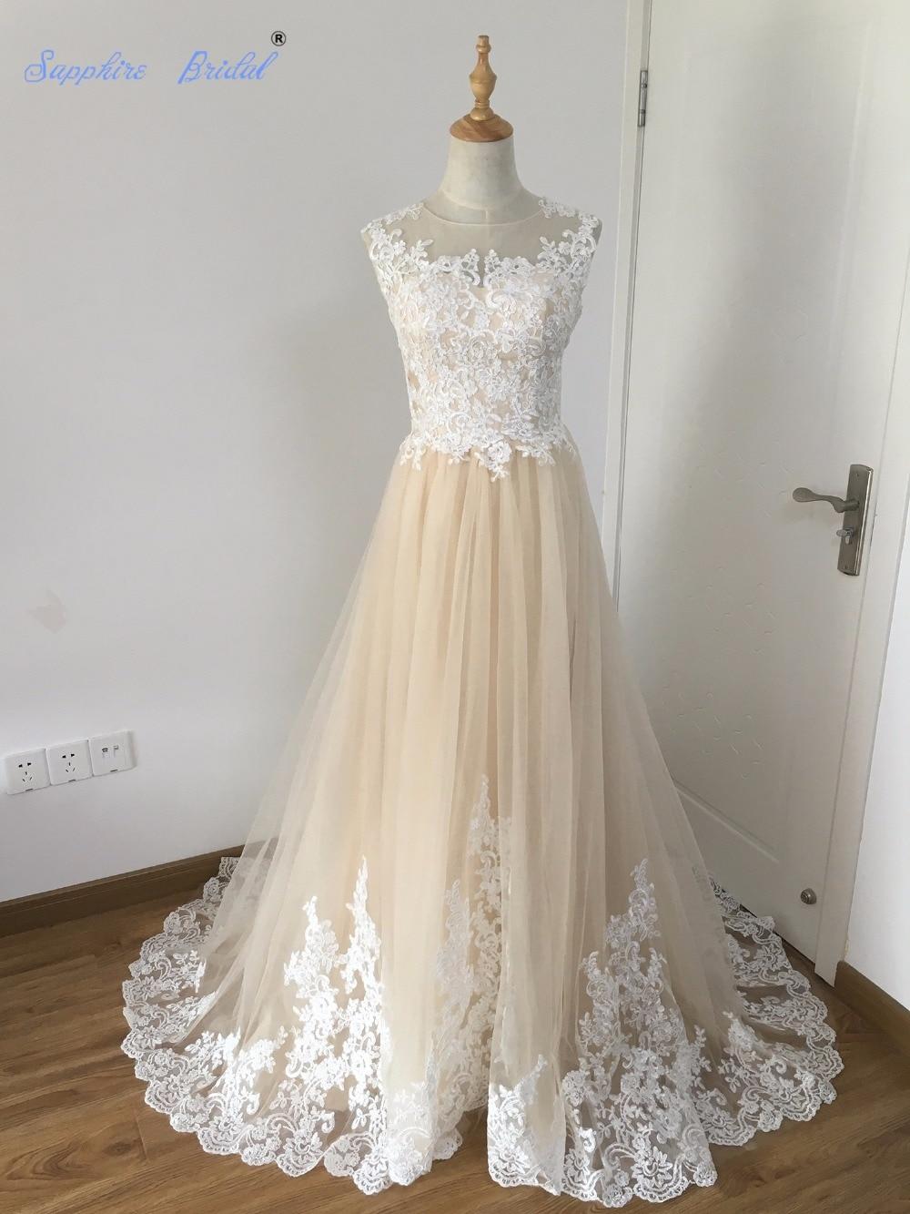 Sapphire Bridal 100% Real Photo Vestido De Noiva Champagne White ...