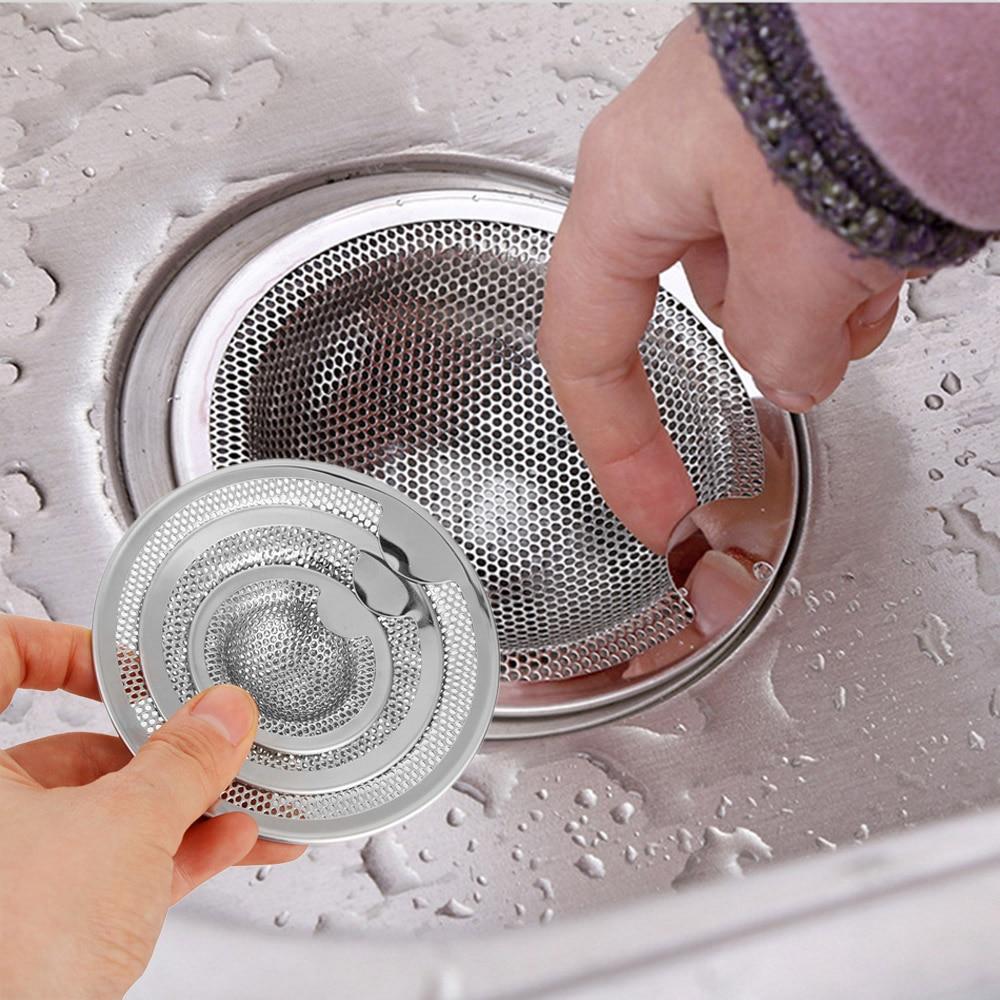 3 Size New Mesh Trap Bathtub Shower Waste Stopper Kitchen Stainless Steel Sink Strainer Drain Hole Filter Drainage For Kitchen