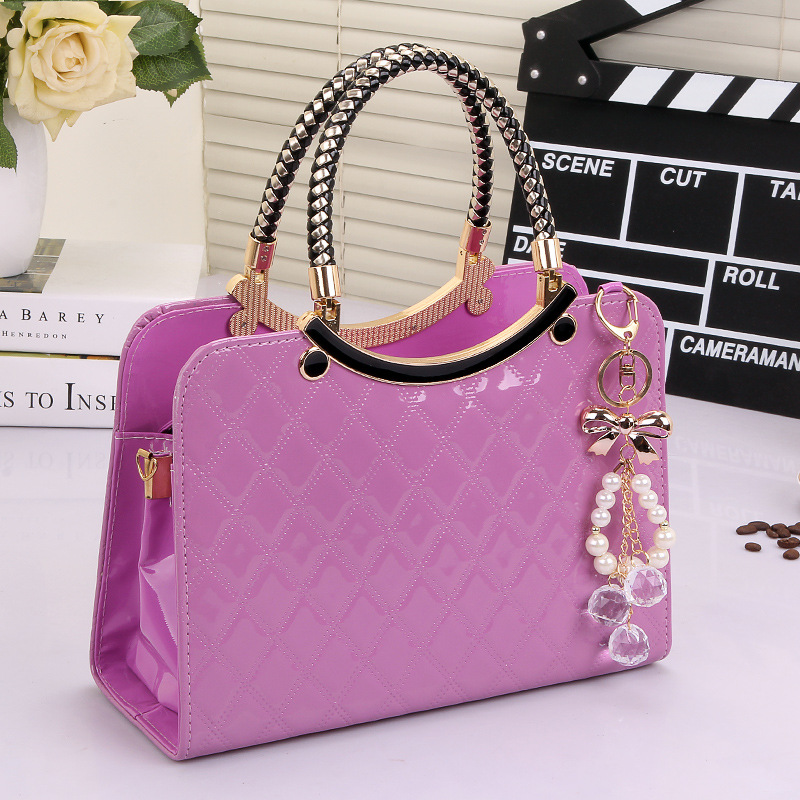 Handbag Cute Pure Color Tote Popular The Large Capacity PU Leather Tote Shoulder Bag Ladies Messenger Bag
