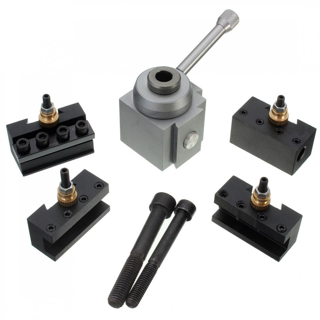 1set Mini Quick Change Tool Post Holder Kit Set for Table / Hobby Lathes folies a41046357 folies fw14 15