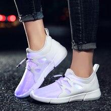 KRIATIV 7 кольорів волоконно-оптичні світлові кросівки світлодіодні взуття взуття дитячі хлопчики дівчата взуття для дітей USB зарядні тапочки