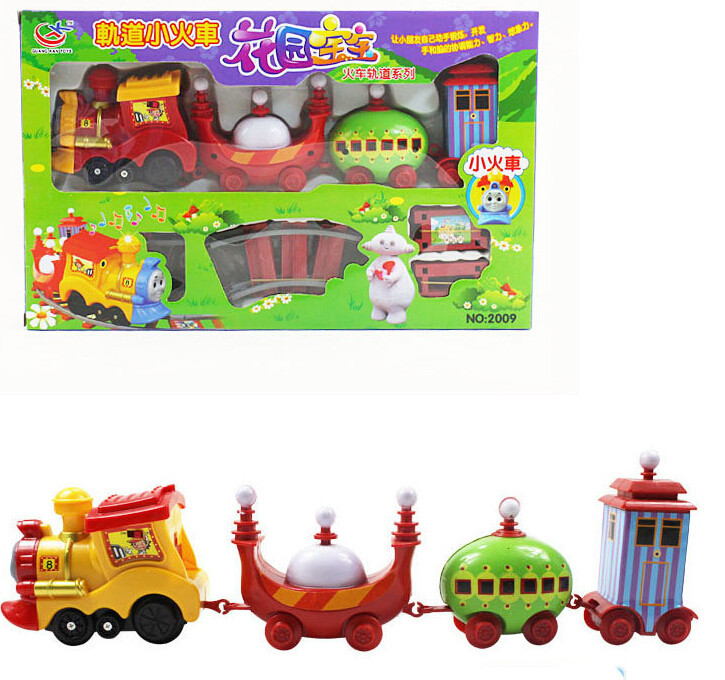 Slot Thomas Train toys educational track train Kids toy In The Night Garden Series baby plastic toys car with Music and Light +