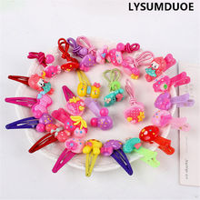 20Pcs/Lot Flower Headband Kid BB Clip Bow Elastic Hair Bands Duck Hairpin Children Ring Rope Hairpins For Girl Hair Accessories