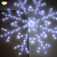 FUMAT Snowflakes LED Fairy String Light Holiday Snow 40pcs LED Indoor/Outdoor Xmas Decor Bracket lamp RGB /WHITE INDOOR Lamp