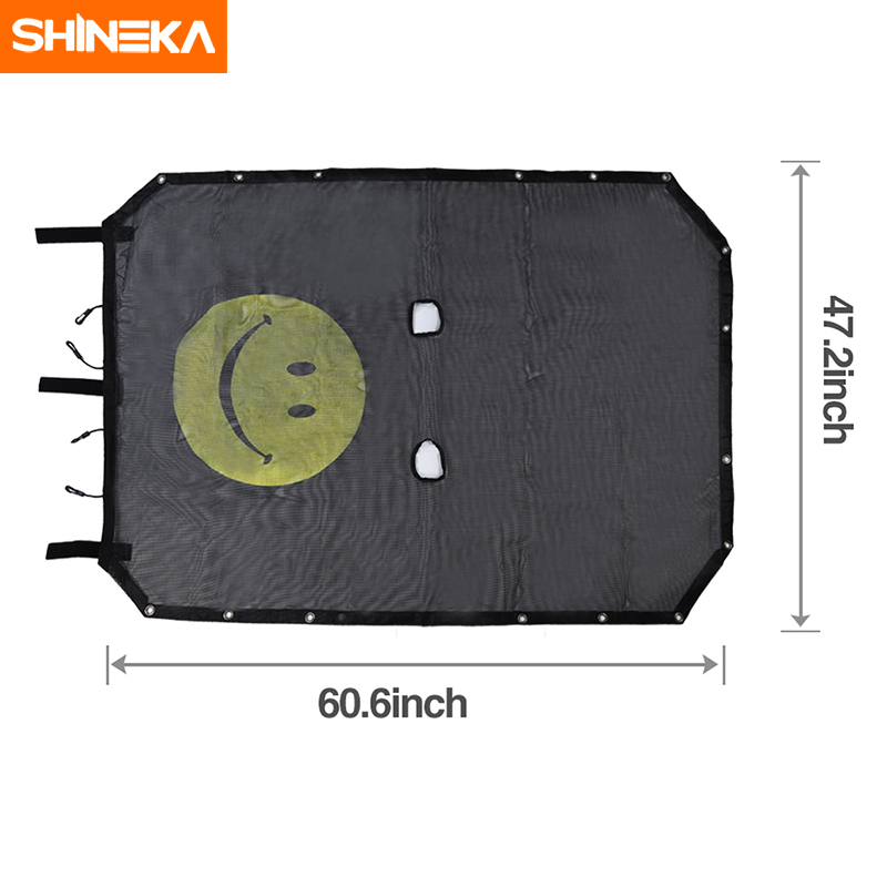 Image 5 - SHINEKA Top Sunshade Mesh Car Cover Roof UV Proof Protection Net for Jeep Wrangler JK 2 Door and 4 Door Car Accessories Styling-in Sunroof, Convertible & Hardtop from Automobiles & Motorcycles