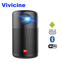 Drop Ship Vivicine P1 WIFI Mini Projector,Pocket Size,Built in Battery, Support Miracast DLNA Handheld Video Projector Beamer