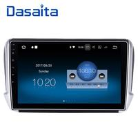 Dasaita 10.2 Android 7.1 Car GPS Player Navi for Peugeot 208 2008 with 2G+16G Quad Core Stereo Radio Multimedia HDMI No DVD 4G