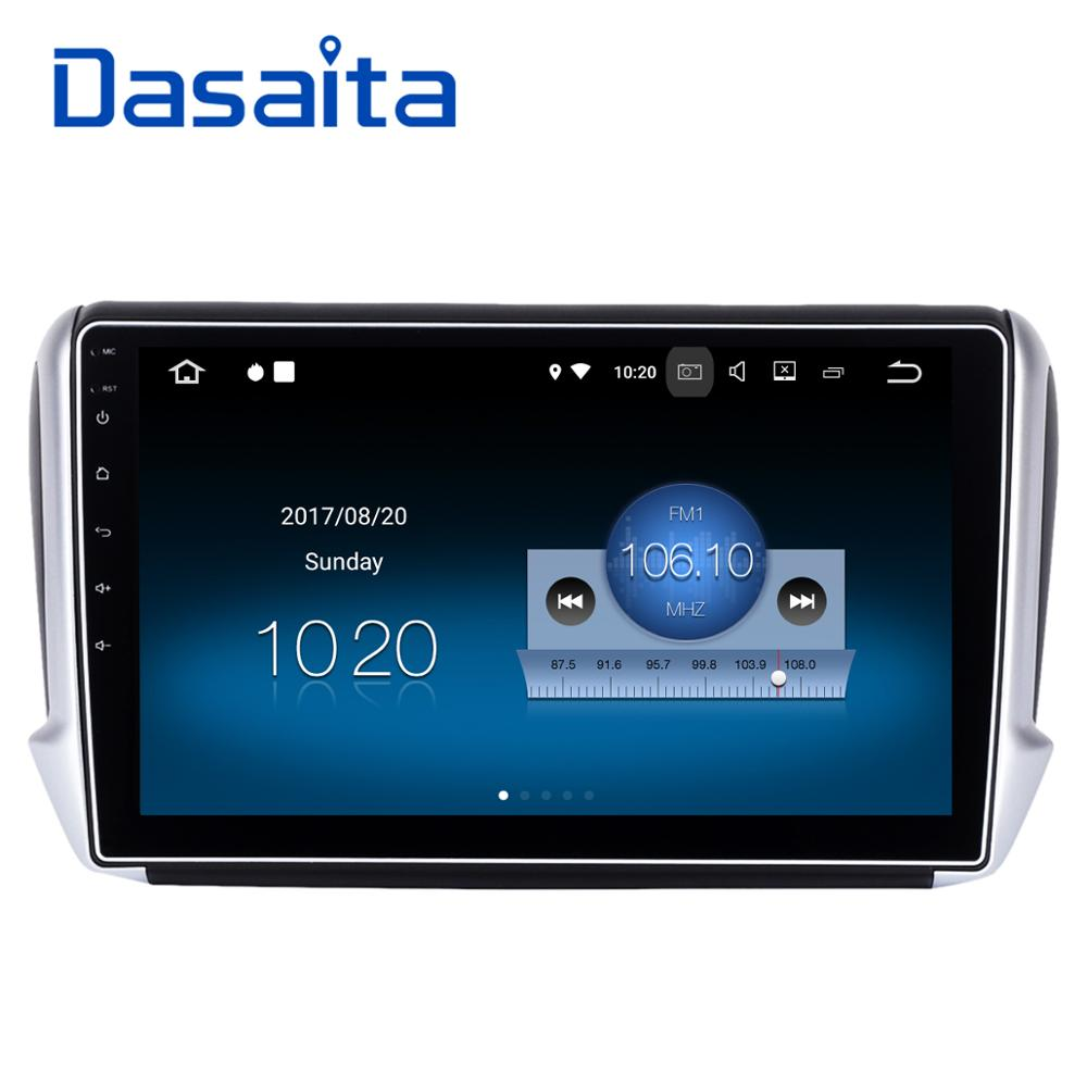 dasaita 10 2 android 8 1 car gps player navi for peugeot 208 2008 with 2g 16g quad core stereo. Black Bedroom Furniture Sets. Home Design Ideas