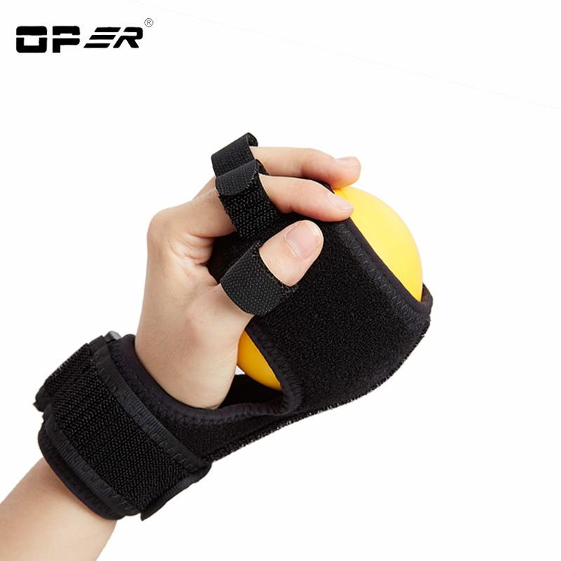 OPER Finger Posture Corrector Anti-Spasticity Ball Splint Hand Functional Orthosis Hand Ball Rehabilitation Exercise Hemiplegia