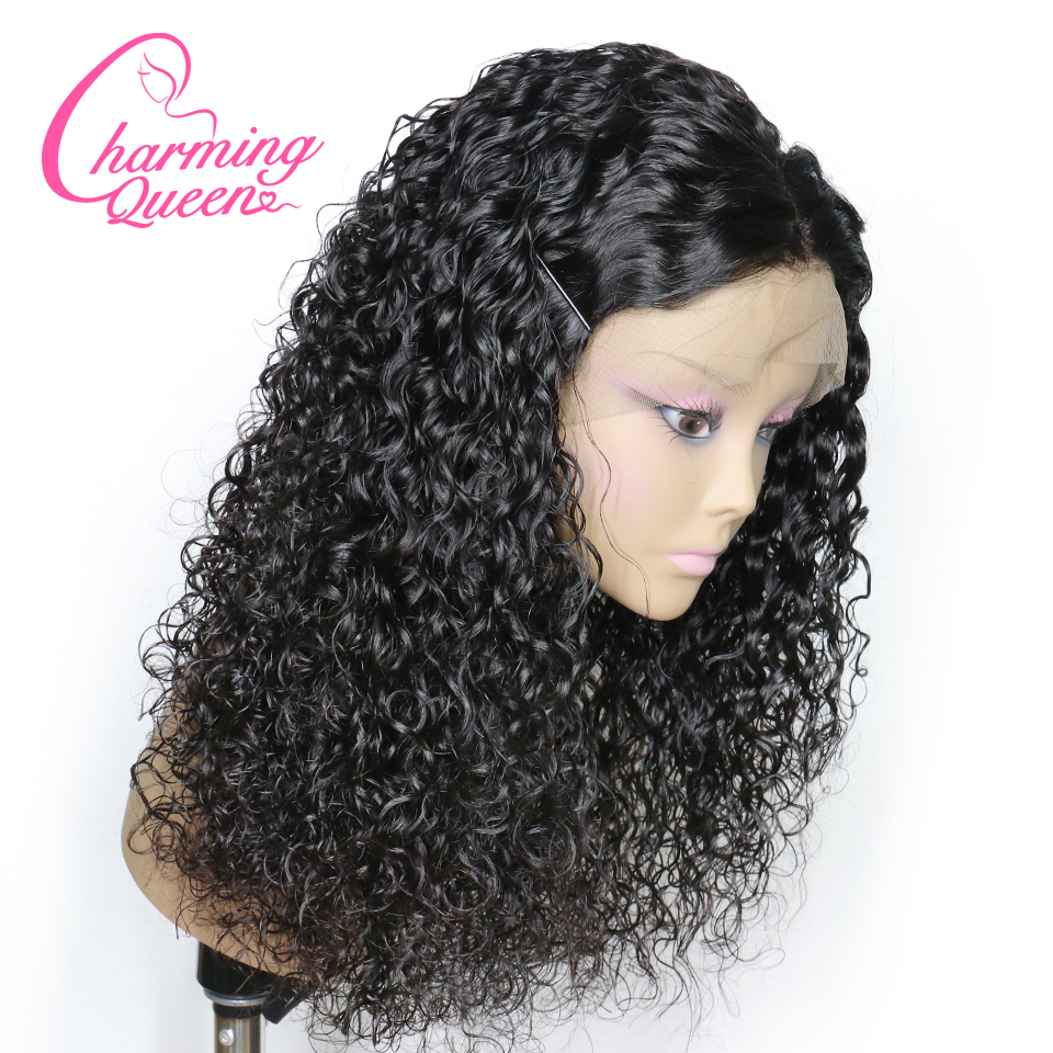 Curly Lace Front Human Hair Wigs For Black Women Brazilian 13x4 Frontal Pre Plucked Bleached Knots