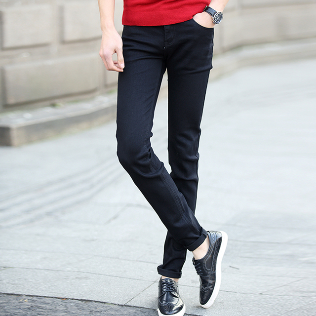 Business Mode Male Jeans 2017 Neue Casual Herren Baumwolle Black v8wNmnO0