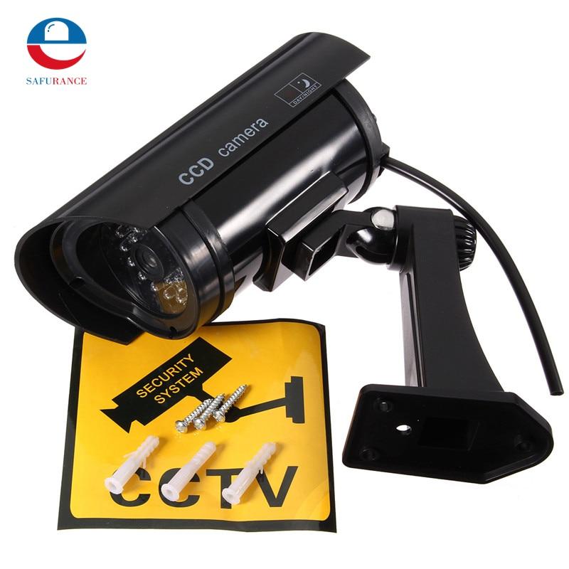 цены  ABS Fully Adjustable Simulation Dummy Camera Fake Surveillance Camera IR LED Safely Security Black Plastic Hot Sale