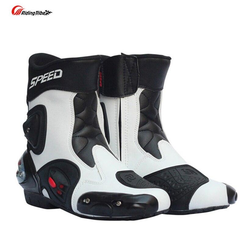 Riding Tribe SPEED Motorcycle Boots Shoe Motocross Botas Moto Motoqueiro Motocicleta A0041 Botte Botas Para motorcycle shoes Men