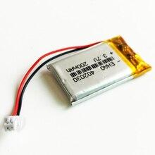 402030 3,7 в 200 мАч литий-полимерная LiPo аккумуляторная батарея с JST 1,25 мм 2p для Mp3 камеры bluetooth gps электронная часть