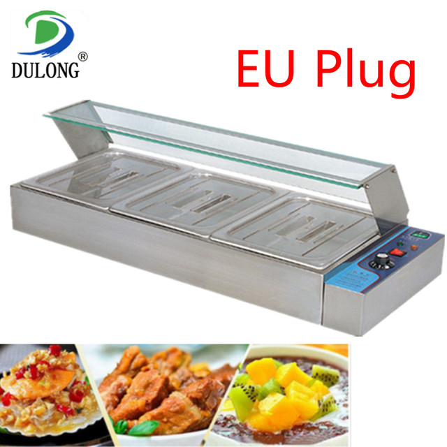 Professional Commercial Food Warmer Kitchen Equipment Machine Electric Food Warmer Container Electric Bain-Marie For Restaurant