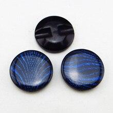 20 шт 21 мм темно-синяя окрашенная Смола полоса пуговицы пальто сапоги Швейные аксессуары для одежды R-012