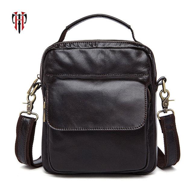 more photos 4a22c ffba5 US $35.49 29% OFF|TIANHOO Genuine Leather bags mani on pocket men\x27s  crossbody bag handbag cell phone pocket briefcase schoolbag on  Aliexpress.com | ...