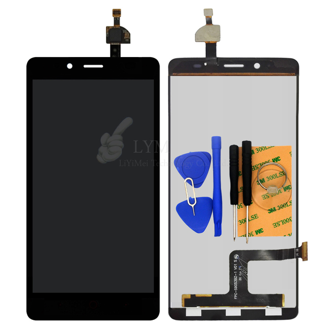 "Black LCD+TP for ZTE Blade V220 5.0"" LCD Display+Touch Screen Digitizer Panel Assembly Phone Replace Part Free Shipping+Tools"
