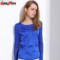 2015 New Chiffon Blouse T Shirts Women Woman Female Ladies Silk Blusas Femininas Blouses Shirt Clothes