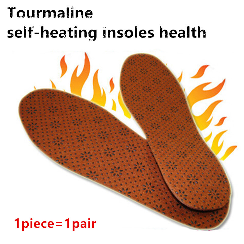 The new Insoles heated self-heating insoles orthotic insole foot massage plum-shaped wool felt insole