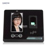 F500 leitor de impressão digital com comparecimento do tempo da impressão digital máquina de controle de acesso sem fio 4.3 polegada HD screen  comandos de voz ao vivo|Registro de horas| |  -