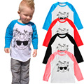 T-shirt para Os Meninos Coelho Dos Desenhos Animados T-shirt Do Bebê Menina Grande Irmã T Camisa Dos Miúdos Roupas Da Moda Camiseta de Manga Comprida Tops Crianças roupas