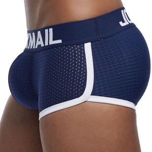 Image 5 - JOCKMAIL Breathable Mesh Enhancing Padded Hip Sexy Boxer Men Underwear Removable Enhancement Two Butt Pads and gay penis Pad
