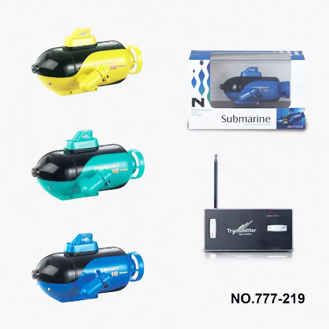 Happycow 777-219 4CH Mini RC Submarine Radio Remote Control Ship Toys with Light Children Gift RTR