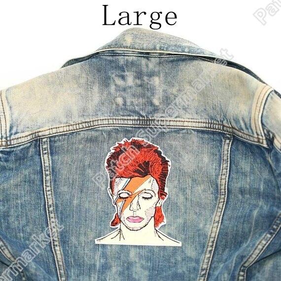 """5.6 """"David Bowie duże plecy naszywki na jeansowa kurtka artysta haftowane żelazko na plakietce art English singer songwriter actor"""