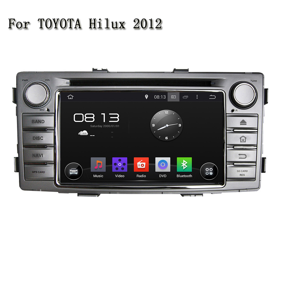 2 Din Android 5.1.1 Car GPS Navigation Dvd For Toyota Hilux 2012 Car Stereo Car Support  ...
