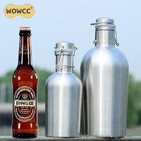 Homebrew 32OZ 64OZ Stainless Steel Beer Growler 1 0L 1 9l Secure Swing Top Lid Craft