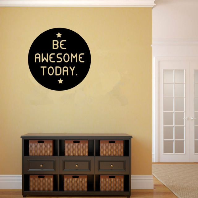Be Awesome Today Quotes Decorative Vinyl Wall Decal Stickers ...