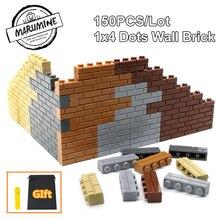 MARUMINE City Part 1x4 Dots кирпичи 15533 дома стены строительные блоки Совместимость обучения Классический DIY MOC Обучающие игрушки набор