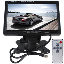 7 inch TFT Color LCD Video Input Car RearView Headrest Monitor DVD VCR,fast shipping drop shipping